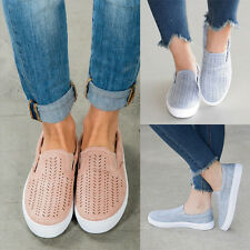 Women Ladies Platform Wedge Hollow Out Flat Casual Slip On Oxfords Shoes Loafer