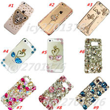 Lady's Jewelled Rhinestone Bling Crystal Diamond hard clear Phone Case Cover #4