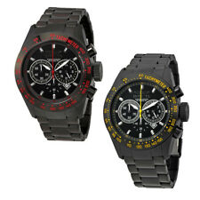 Invicta Speedway Chronograph Black Dial Black Ion-plated Mens Watch - Choose