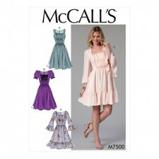 McCalls Ladies Sewing Pattern 7500 Gathered & Ruched Dresses (McCalls-750...