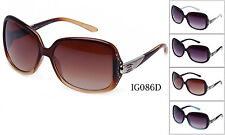 Eyewear Womens Rhinestones Designer Wrap Sunglasses Shades Fashion New