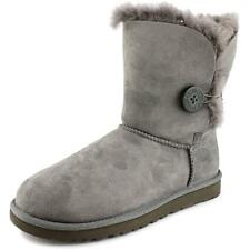Ugg Australia Bailey Button Women  Round Toe Suede Gray Winter Boot