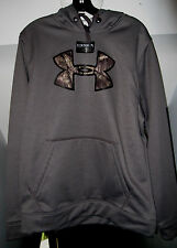 UNDER ARMOUR TACKLE TWILL ARMOUR FLEECE COLDGEAR MOSSY OAK CAMO STORM HOODIE NWT