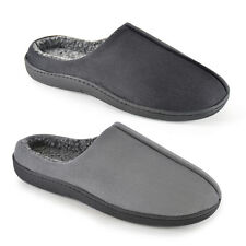Mens Adults Memory Foam Cleated Sherpa Lined Faux Suede Slippers sizes 7-12 Gift