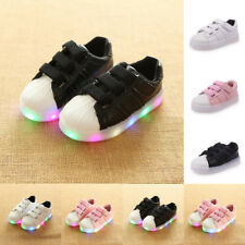 Kids Girls Boys LED Light Flashing Sneakers Flats Casual Loafer Luminous Shoes