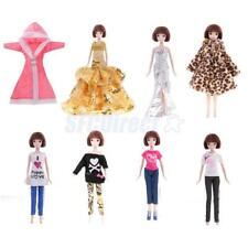 "Fashion Doll Clothes Set for Barbie 12"" BJD Doll Dress Up ACCS Kid Role Play Toy"