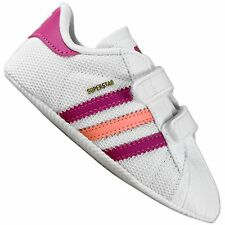 Adidas Superstar 2 Crib Baby Trainers Crawl Shoes White Pink Pink sz. 17 18