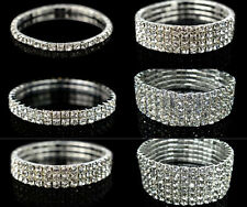 News Fashion Elastic force Wrap Wristband Cuff Punk Crystal Rhinestone Bracelet
