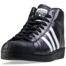 adidas Promodel Mens Black Leather Casual Trainers Lace-up Genuine Shoes