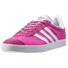 adidas Gazelle Womens Trainers Pink White New Shoes
