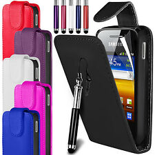 PU LEATHER FLIP CASE COVER, FILM & RETRACTABLE PEN FOR SAMSUNG GALAXY Y S5360