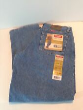 New Wrangler Jeans RELAXED FIT Mens Stone Bleach Zipper Fly  Choose Your Size