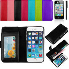 Flip Folio Credit Card PU Leather Wallet Phone Case Cover Accessory For iPhone 6