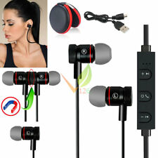 Black -Li56 Magnetic Bluetooth Handsfree Headset Earphone For Cell Phone Samsung