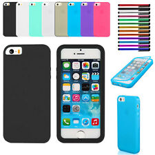 TPU Matte Wrap Up Phone Case Cover with Built In Screen Protector For iPhone5S