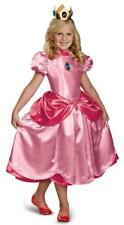 New Girl's Super Mario Brothers Deluxe Princess Peach Halloween Costume - Child