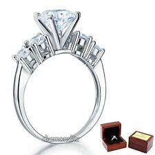 Five-Stone Ring 2 Ct Lab created Diamond Sterling 925 Silver Wedding Engagement