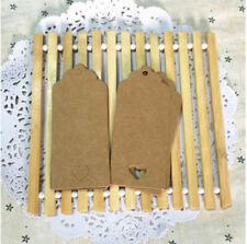 20pcs Kraft Paper Gift Tags Scallop Label Luggage Wedding Blank + Strings NEW