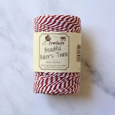 Red, White Baker's Twine, Christmas Twine, 10 ply Cotton Twine, Beefeater Red