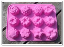 Flower Shape Soft Silicone Cake Chocolate Mold Pudding Jelly Handmade Soap Mold
