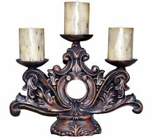 Ornate Acanthus Leaves 3-Tier Candle Holder Made in USA in 40 Colors