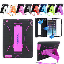 ShockProof Armor Military Heavy Duty Hybrid Hard Case Cover For Apple iPad 2/3/4