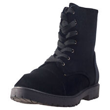 City Shoes Dm Boots Velvet Womens Black Fabric Casual Boots Lace-up New Style