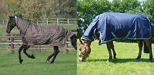 MARK TODD LITE LIGHTWEIGHT COMBO ATTACHED NECK HORSE/PONY TURNOUT RUG