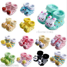 Animal Cartoon Slipper Newborn Baby Boy Girl Anti Slip Shoes Boots Warm Socks D