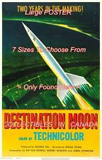 "DESTINATION MOON 1950 = Sci-Fi ROCKETSHIP Space = MOVIE POSTER 7 SIZES 19"" - 36"""