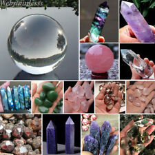 Natural Fluorite Amethyst Point Pink Rose Crystal Quartz Healing Wand Stone Lot