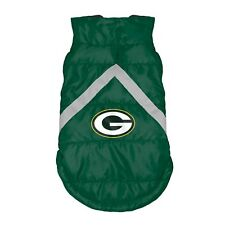 NEW GREEN BAY PACKERS DOG PET PREMIUM PUFFER VEST REFLECTIVE JACKET