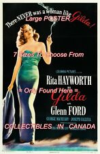 """GILDA 1946 Rita Hayworth SEXY There Never Was = POSTER CHOOSE 7 SIZES 19"""" - 36"""""""