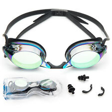 Swimming Goggles Adult Cloud 9 Anti Fog Silicone Strap With Ear Plug and Case
