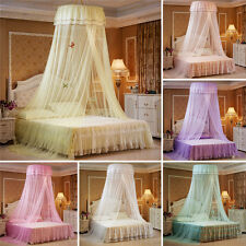Elegant Lace Canopy Mesh Bed Mosquito Canopy Round Dome Bedding Net Queen Bed