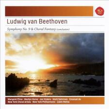 LUDWIG VAN BEETHOVEN: SYMPHONY NO. 9 & CHORAL FANTASY (CONCLUSION) USED - VERY G