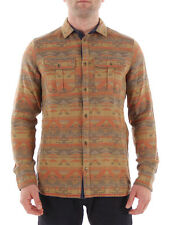 O'neill Shirt Violator Native Flannel Shirt Beige Pattern Kent Collar