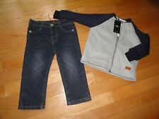 7 For All Mankind Boys Pants Shirt Hoodie Sweatshirt Set Baby Toddler 18M 24M NW