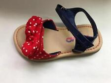 Girl's Toddler JOSMO Red+White+Blue Polka Dot Bow Fashion Sandals Dress Shoes