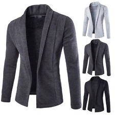 New Fashion Men's Casual Slim Fit Formal One Button Suit Blazer Coat Jacket Tops