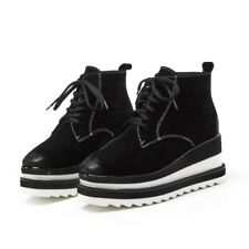 Fashion Womens Platform Winter Shoes Hot Suede Short Boot Round Toe Casual Shoes