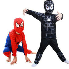 Kids Boy Spiderman Costume Fancy Dress Outfit Suit Halloween Cosplay 3-7 Years