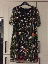 BNWT Marks & Spencer stunning knee length lined black lace dress size 16 RRP £89