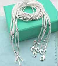 Wholesale lots 5pcs  Silver Snake Chain Necklace  Fashion  26""