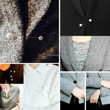 New Fashion Fake Pearl Brooch Collar Clip Scarf Buckle Brooches Pins ED