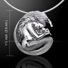 Mermaid Mother Cradling her Child Silver Pendant - By Selina Fenech