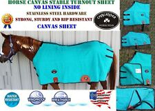 Canvas Duck Turnout Water Resistant Horse Winter Blanket No Lining 2516