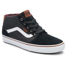 Mens Youth VANS CHAPMAN MID Black Leather Casual Sneakers Skate Shoes NEW