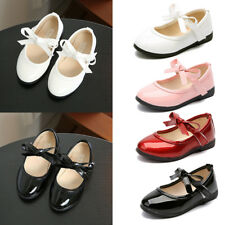 Toddler Girls Kids Wedding Party Dance Shoes Flat Walking Ankle Strap Sandals
