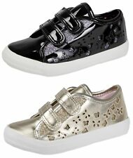 Buckle My Shoe Glitter Trainers BMS Girls Metallic Butterfly Pumps Party Shoes